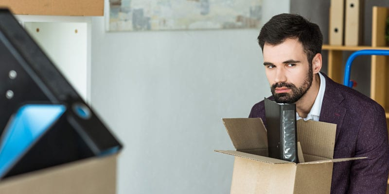 Stock photo of a man fired from his job