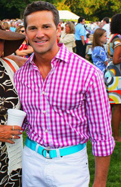 Former Congressman Aaron Schock at a White House picnic in 2010