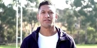 Former rugby player Israel Folau (screen capture via GoFundMe)