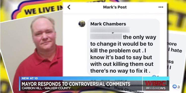 """Mayor Chambers said his solution was to """"kill out"""" LGBTQs"""