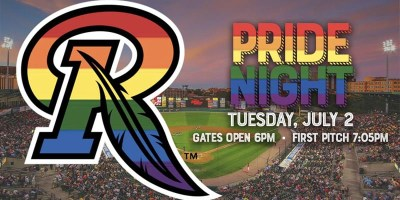 Pride Night at the Rochester Red Wings game (image via Twitter)