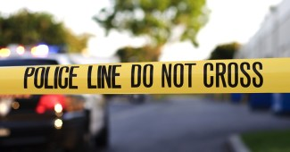 Stock image of a police crime scene