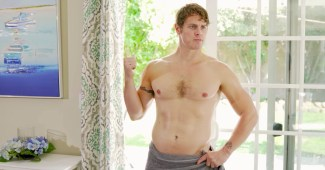 Shirtless Drew Canan as Jim in the Bad Boy web series