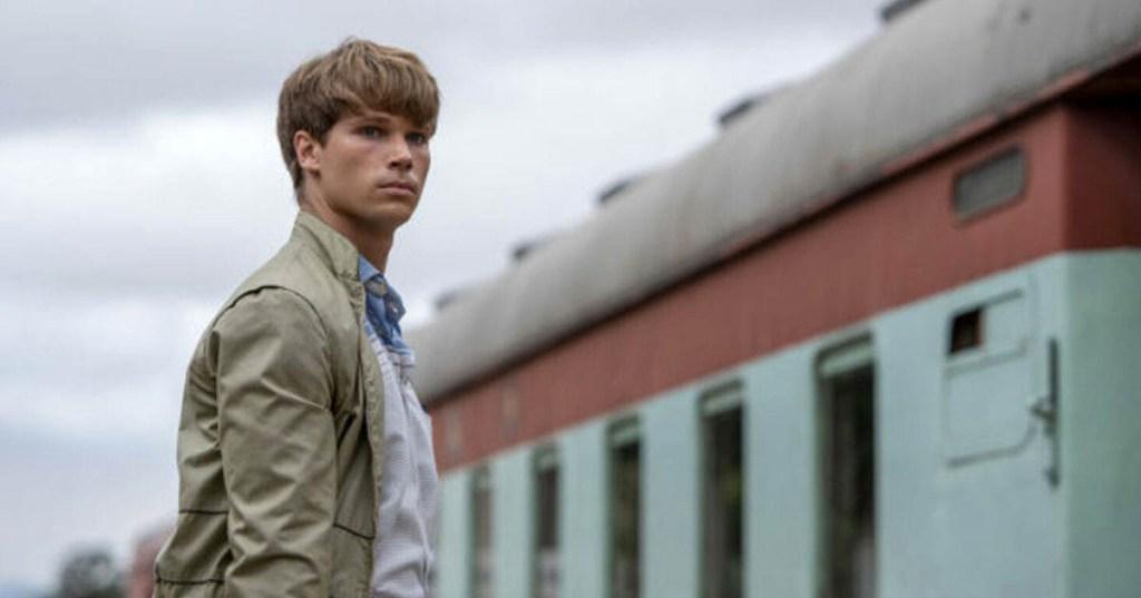 Kai Luke Brummer as Nicholas in 'Moffie' (image via IFC)