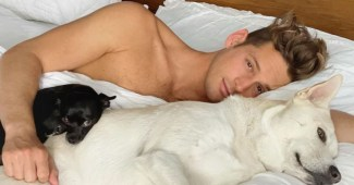 Max Emerson wakes up with his pack
