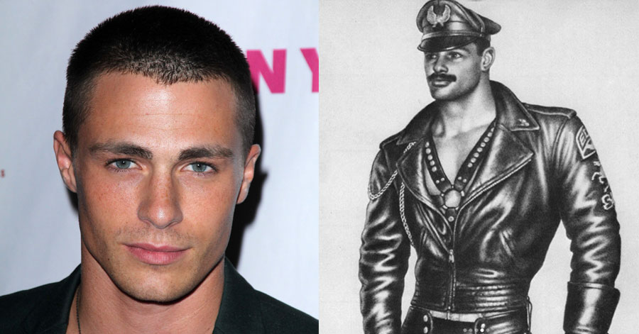 Colton Haynes went full-on leather daddy in a recent tribute to the iconic art of Tom of Finland