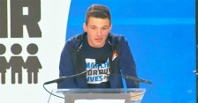 Cameron Kasky at the 2018 March for Our Lives rally