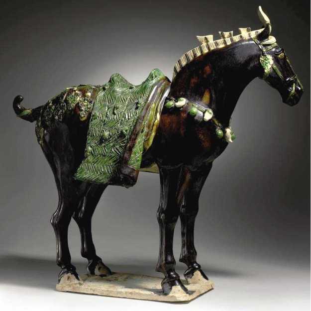 cheval ceramique