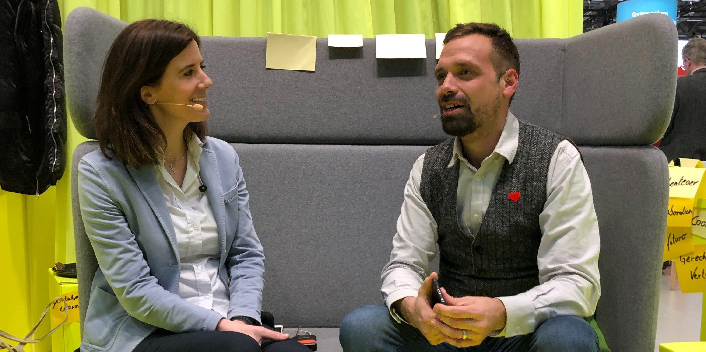 Katja Suding im Gespräch mit Florian Sochatzy bei der EduCouch