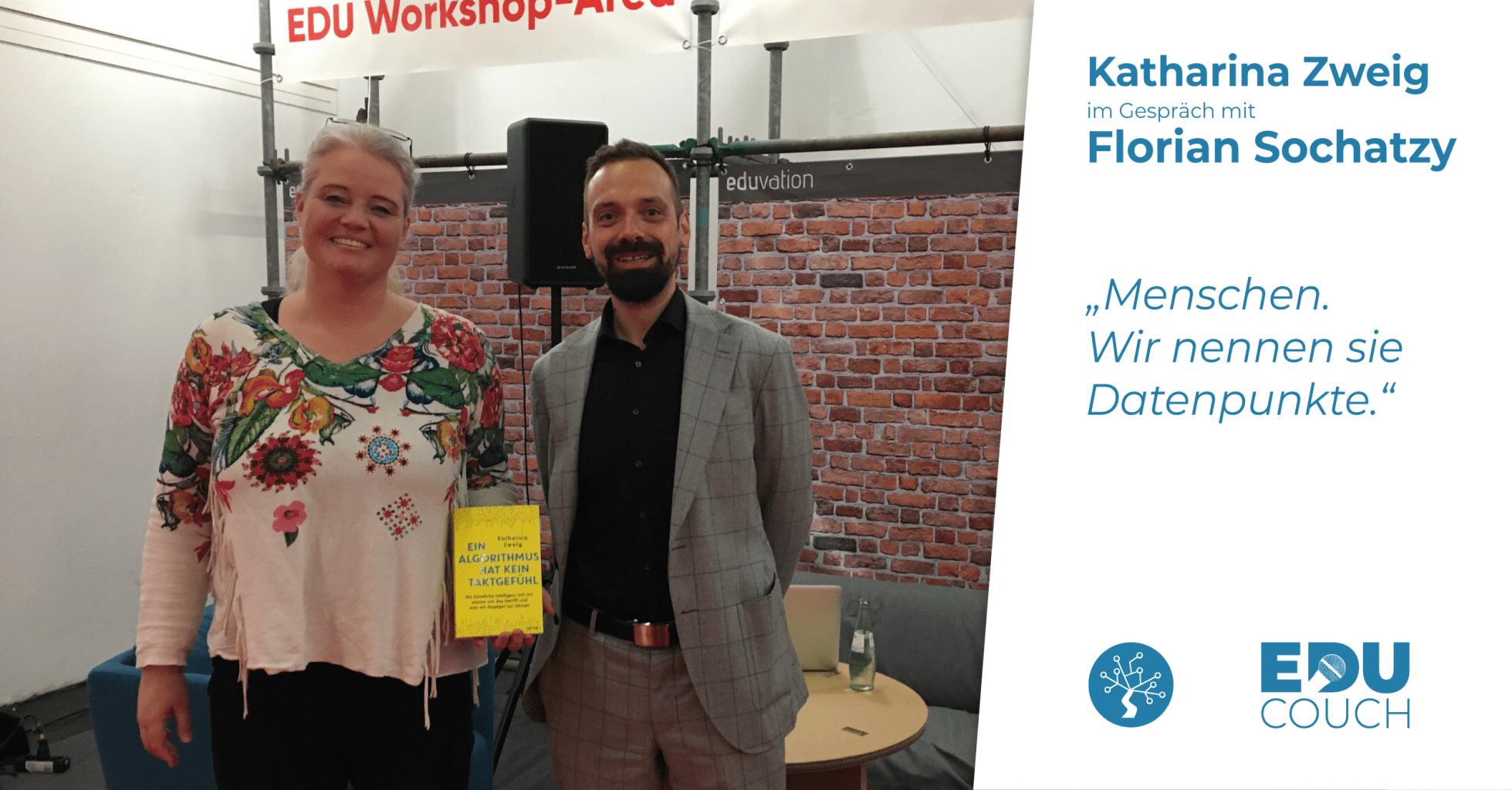 Katharina Zweig im Gespräch mit Florian Sochatzy bei der EduCouch