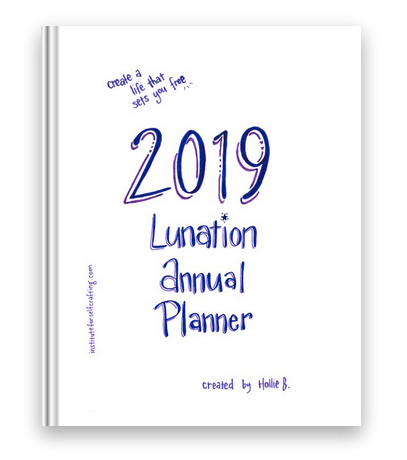 2019 Lunation Annual Planner   Large Size  