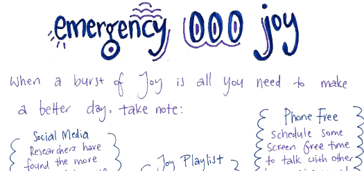 Emergency Joy Preparation List