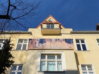 Ulf Aminde, footworks II, Max Lingner Strasse, Die Balkone, Berlin 2020
