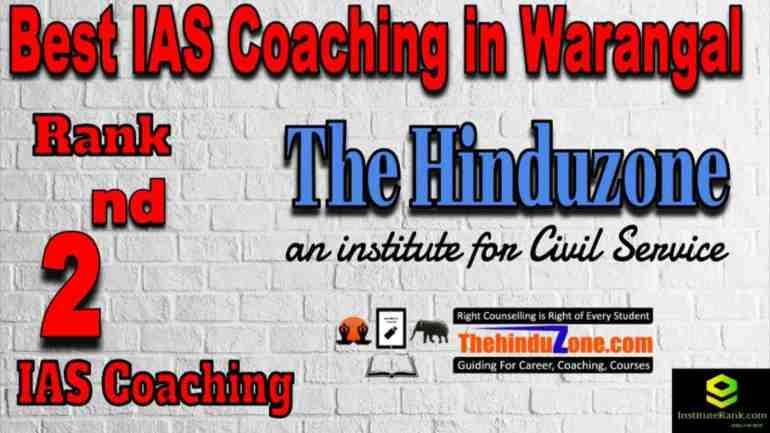 2nd Best IAS Coaching in Warangal