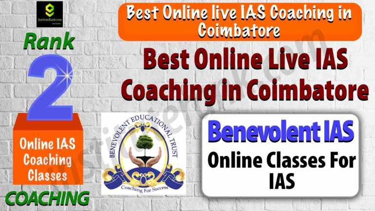 Best Online live IAS Coaching in Coimbatore
