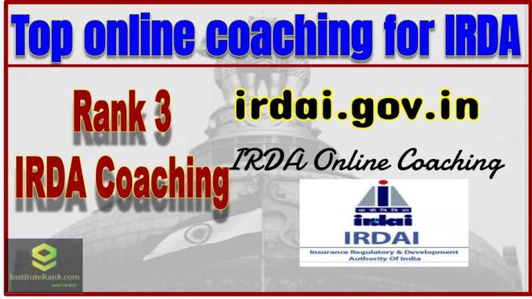 Best Online IRDA Coaching Rank 3