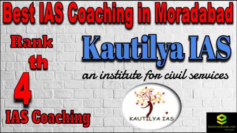 Rank 4 Best IAS coaching in Moradabad