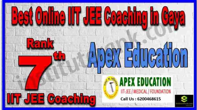 Rank 7th Best Online IIT JEE Coaching in Gaya
