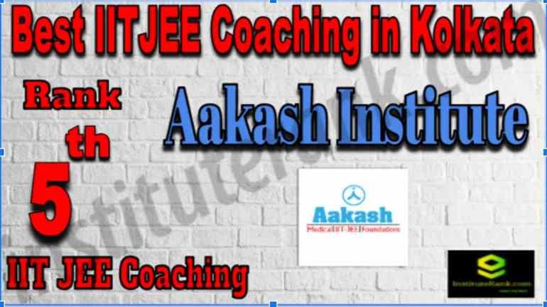 Rank 5 Best IIT JEE Coaching in Kolkata
