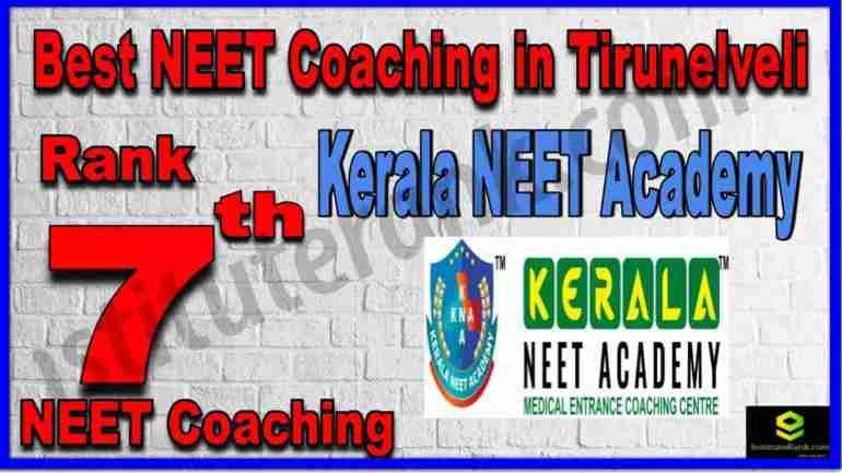 Rank 7th Best NEET Coaching in Tirunelveli