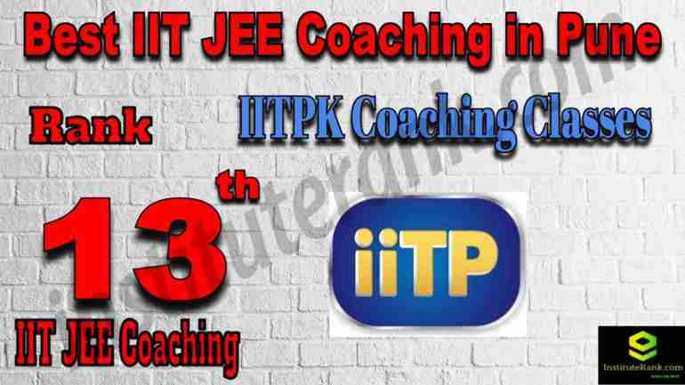 13th Best IIT JEE Coaching in Pune