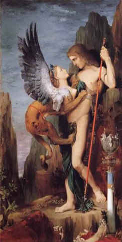 Œdipe sphinx Gustave Moreau
