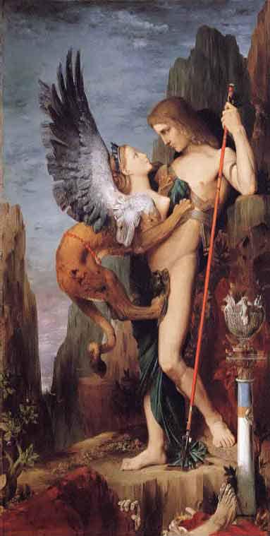Gustave Moreau - Œdipe et le sphinx - 1864