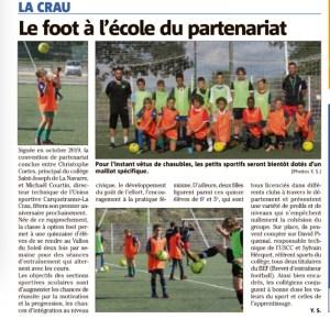 Le foot à l'école partenariat