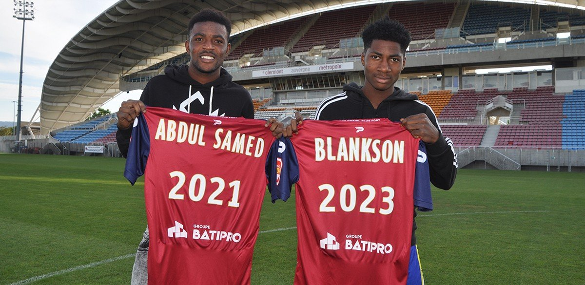 C.S. Clermont sign Blankson Anoff and Salis Abdul Samed,