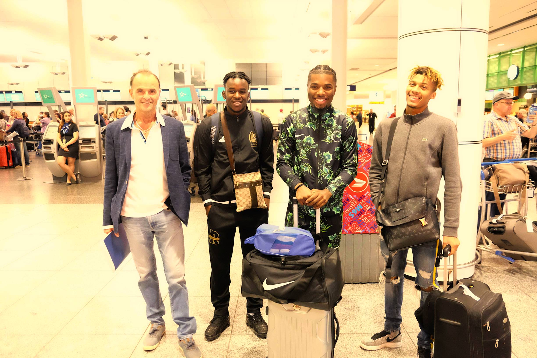 Institut jmg try out RC Lens depart paris 19 septembre 2019 présent David Tshibangu, Dimbas Ryan, Amos Kalonga. Andrea Puzo