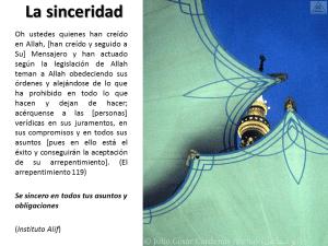 Breve interpretación (tafsir) del Corán la sinceridad