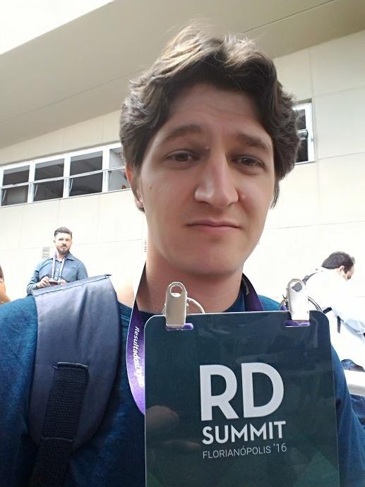 Murilo na RD Summit 2016. Ele fez muita falta nesses dias no instituto, mas valeu muito à pena!