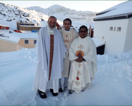 Padres del IVE misioneros en Groenlandia