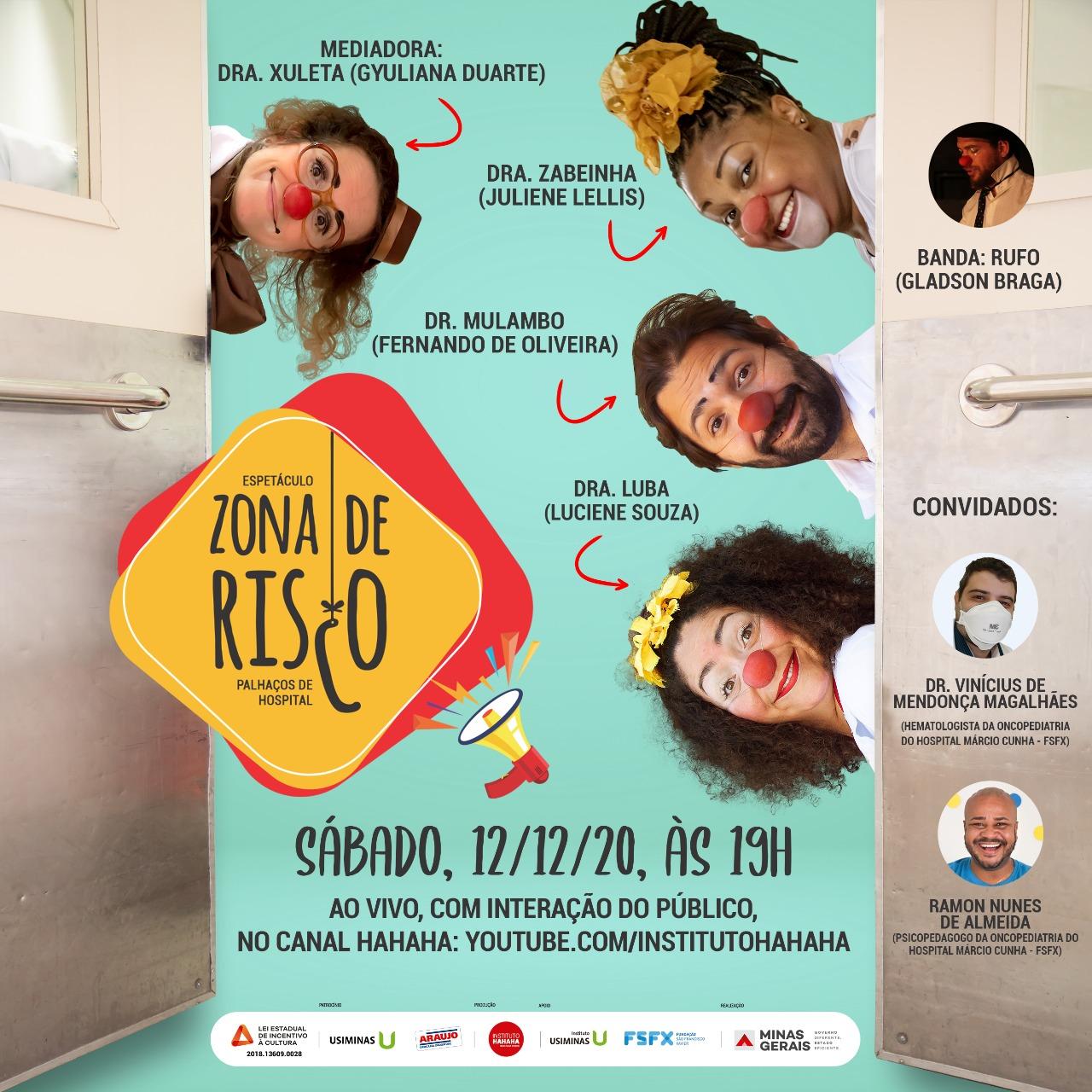 Espetáculo Zona de Risco traz histórias de atendimento em Ipatinga-MG para palco virtual