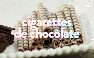 Cigarros de chocolate – Paso a paso