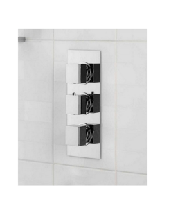 Cubik Square Triple Thermostatic Shower Valve