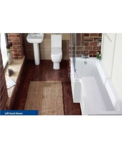 Rak Blok L Shape Shower Bath Suite