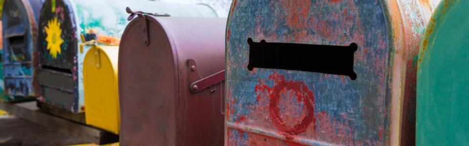 California grunge mailboxes along Pacific Highway Route 1 US 101 USA