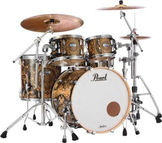 Pearl Masters Maple Complete MCT924XEDP/C 4-piece Shell Pack - Bombay Gold Sparkle