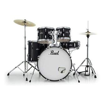 Pearl Roadshow RS525SC/C 5-piece Complete Drum Set with Cymbals - Jet Black