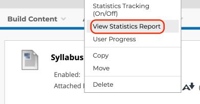 statistics report