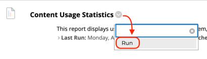 run statistics report