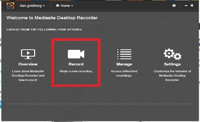 screenshot of record button callout