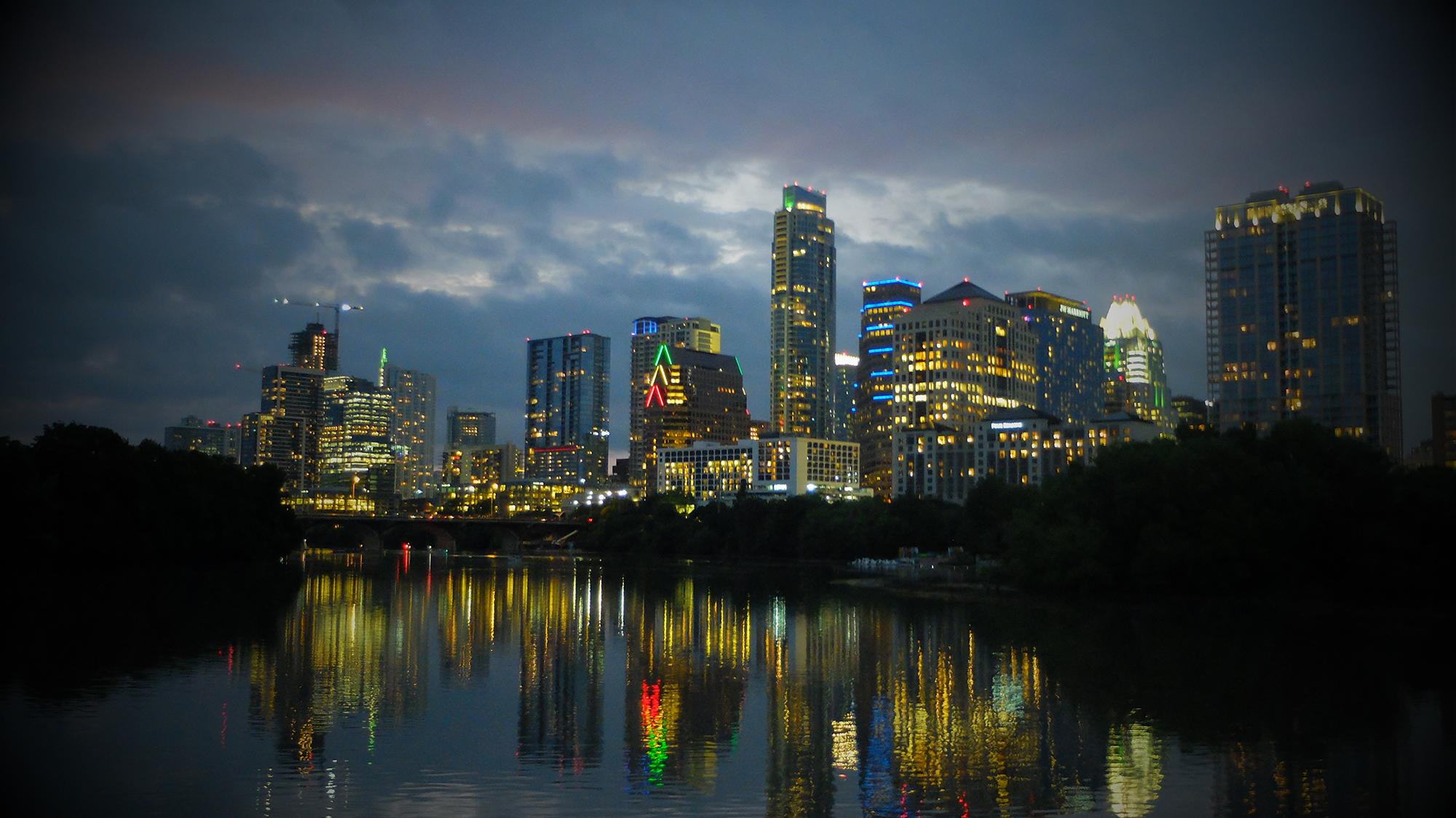 Evening skyline. Austin, TX