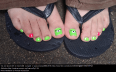 No flip flops ever! Even with cute nails.