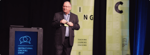 Jim Knight presenting at Teaching Learning Coaching Conference