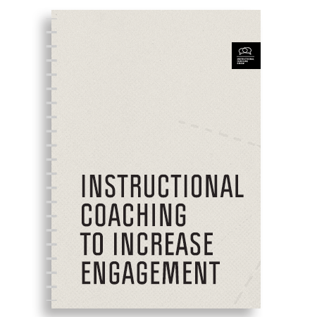 """Photo of the cover of """"Instructional Coaching to Increase Engagement"""" Workbook"""