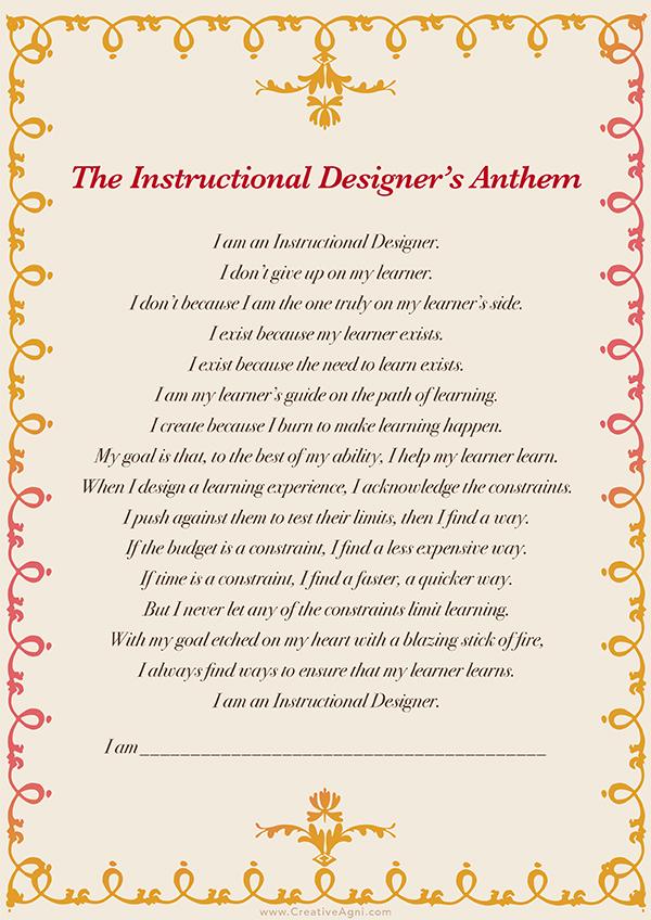 Instructional Designer's Anthem - Shafali R Anand