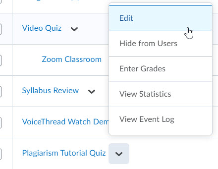 brightspace grade item edit context menu