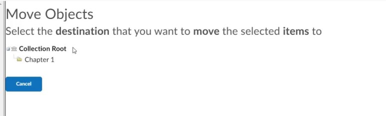 brightspace question library move menu